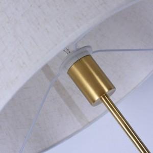 Lampadaire en cuivre classique Bureau bureau chambre à coucher Direction réglable lampe debout blanc simple éclairage à la maison