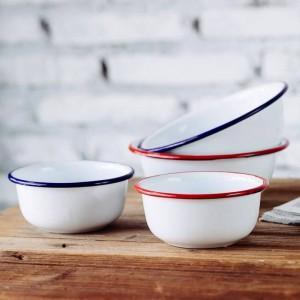 Style japonais classique Accueil Bols pour enfants Bol en porcelaine épaisse émaillée Bol à salade Popcorn Fruit Snack Bol à soupe Vaisselle