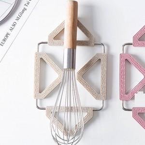 Coloré Pliable Anti-dérapant Résistant À La Chaleur Coussin Dessous De Plat Placemat Support De Pot Tapis Dessous De Coussin Cuisine Accessoires