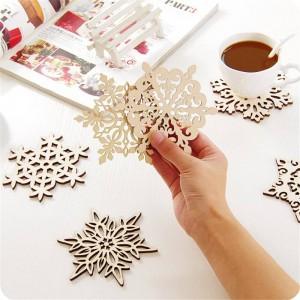 Tapis isolants à la maison créatifs de neige en bois pad table tapis anti - repas chauds de table de repas en bois coaster décoration de la maison