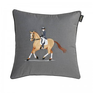 Broderie Gentleman / Riding Woman New Luxury Taie D'oreiller Oreiller / Voiture Couvre Housse de Coussin pour Christmas Home Sofa Venues Decor
