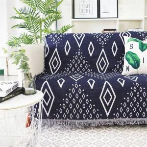 Géométrie Diamond Throw Couverture Canapé Décoratif Housse Cobertor Décorations De Noël Maison Non-slip Couture Plaid Couvertures