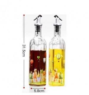 Huileur de verre étanche jiangyouping bouteille de vinaigre bouteille d'huile assaisonnement bouteille grand twinset cuisine fournitures