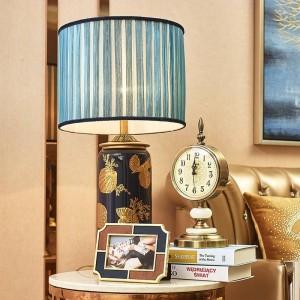 Cadre photo doré de luxe en cuir marron bleu, cadre photo européen en métal, 6 pouces, 7 pouces