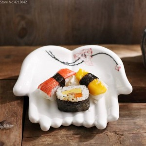 Assiettes en céramique peintes à la main Ustensiles de cuisine Plats décoratifs ménagers Assiette de fruits Sushi Assiettes de rangement pour bijoux Assiette de bijoux