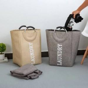 Ménage simple Oxford tissu panier de rangement seau de stockage de jouets pour mettre panier de rangement des vêtements sales panier panier à linge