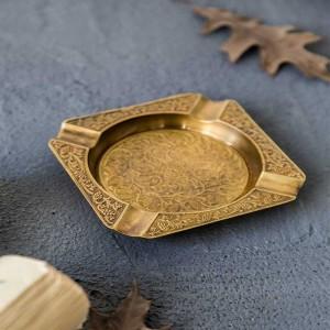 InsFashion casse-croûte classique à la main en laiton de haute qualité classique et plateau de fruits secs pour la décoration de restaurant de luxe