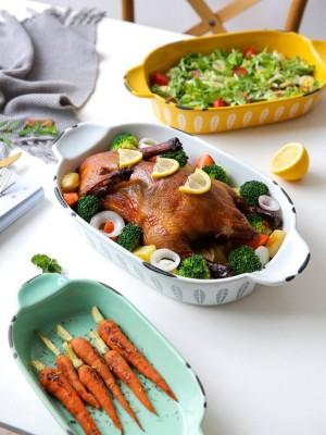 Outils de cuisson de plateau de plaque de salade de ménage de petites oreilles fraîches de style japonais