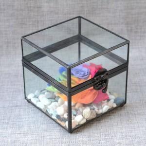 Boîte à bijoux boîte à bijoux verre artisanat couple cadeaux cadeaux de mariage boîte de rangement antique