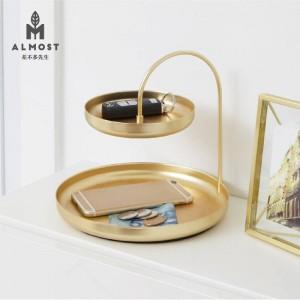 Plateau de bijoux plateau de rangement boîte de rangement clé nordique porche boîte de rangement cosmétiques créatifs bureau