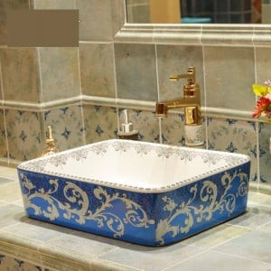 Lavabo en céramique lavabo en céramique lavabo lavabos bols lavabo évier lavabos bol rectangulaire