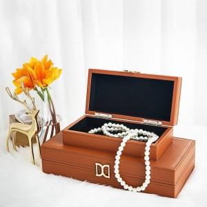 Chambre modèle boîte à bijoux maison moderne chambre néo-classique décoration boîte décoration cuir stockage stockage