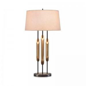 Luxe moderne LED table lampe éclairage chambre lampe de chevet en métal or mode bureau lumière E27 lampe art maison deocration