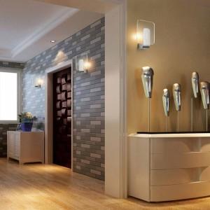 Mur moderne clair led lumière luminaire en acier inoxydable 6w led lampe moderne armoires de salle de bains miroir lampe mur lampes lampe de chevet