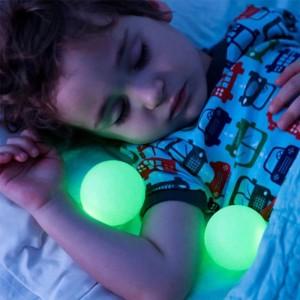 Forme de champignon 7 Dégradé de couleur magique Veilleuses luminescentes Boules lumineuses Table de sommeil avec lampes de chevet à LED Prise en charge EU / US / UK / AU Plug