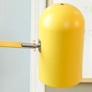 Nouveau lampadaire classique salon décoration macarons lampe en métal coloré corps lampe abat-jour chambre chevet éclairage LED