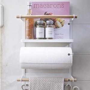 Nordic Metal Iron Storage Shelf Magnet réfrigérateur à adsorption bouteilles à condiments Divers supports de stockage Organisateur pour la maison
