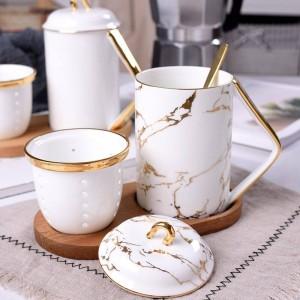 Office Apportez la tasse de thé d'os Séparation de l'eau de thé Tasse de voyage de café parfumée tasses et tasses