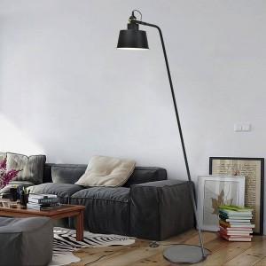 Lampadaire design post-moderne, noir, blanc, métal, lumière, salon, chambre, lampe lecture, réglable, ampoule led E27