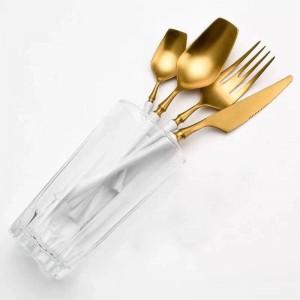 Ensemble de vaisselle Ensemble de couverts en acier inoxydable Cuisine occidentale Vaisselle de luxe Fourchette cuillère à café Couteau Ensemble de couverts Livraison directe