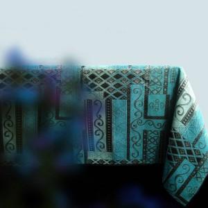 Nappe en chenille bleue classique de dessus pour la nappe noble de la vie de club / hôtel de club pour le cadeau de table de salle à manger de tables de thé