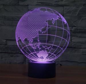 Monde carte forme tactile New Night Lights Globe carte forme acrylique 3D illusion lampe enfants enfants chambre Décoration Led lampe de nuit