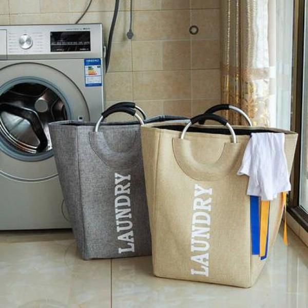 Canasta de almacenamiento de cubo de almacenamiento de juguete de tela simple Oxford para colocar la canasta de almacenamiento de ropa sucia obstaculizar canasta de lavandería