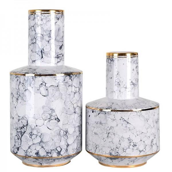 Luz moderna Modelo de florero de cerámica de lujo Decoración del hogar Situación Decoración suave Regalo