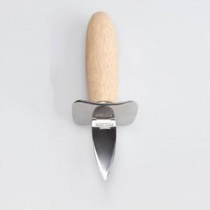 1 unid Mango de madera de acero inoxidable Cuchillo de ostras Shucker Shell de bordes afilados Herramienta de abridor de mariscos Herramientas multifuncionales de cocina