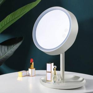 360 Rotate LED espejo de maquillaje con luz chica Hogar Viaje dormitorio estudiantil Portátil relleno luz Espejo de maquillaje mx12261425