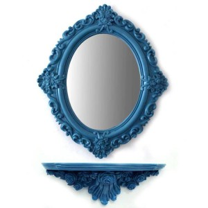 51cmx60cm Espejo cosmético Plástico plegable Escritorio de dibujos animados Apósito de pared espejo decorativo
