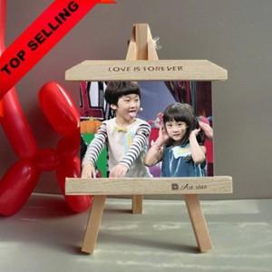 Marco de madera de 7 pulgadas caballete creativo personalizado marco de fotos producto pizarra marcos columpios decoración del hogar regalo de los niños