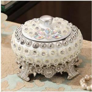 Cenicero de resina avanzada, hermoso patrón de perlas, suministros de oficina en el hogar