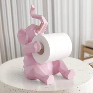 Estatua de animal Decoraciones artesanales rollo de papel titular sala de estar oficina restaurante papel colgante Elefante / ciervo estatuilla decoración para el hogar