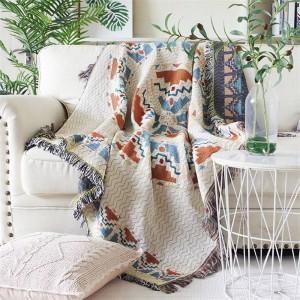 Aura de amor Manta de tiro Hilo Funda de sofá Cubierta de protección geométrica Funda protectora Cobertor Mantas para camas Borla de Navidad