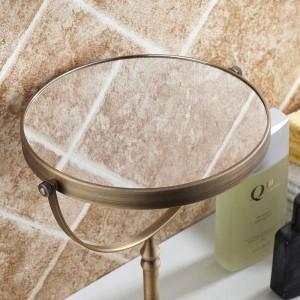 Espejo de baño Maquillaje Espejos de lupa 1: 1 y 1: 3 360 Girar Espejo cosmético de doble cara de baño Espejos de escritorio 728F
