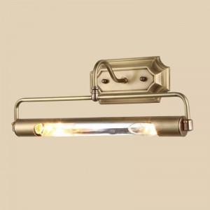 Cuarto de baño Espejo de oro frant light Tubo largo AntiRust aplique de pared para vestidor proyecto de armario Montado en la pared Led luz de espejo