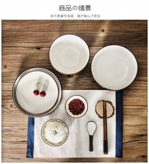 Tazón hogar tazón cerámica vajilla de estilo japonés platos de arroz set plato