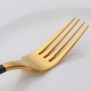 Juego de cubiertos chapados en oro de 4 piezas Juego de cuchillos para cena Juego de tenedor Cubiertos de acero inoxidable Novedad Vajilla Vajilla Juego de cena
