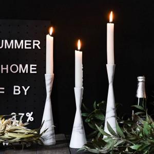 Creative Marbled Nordic Light Luxury Candlestick Table Model Room Window Decoración Decoración Props