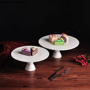 Torta creativa de estilo nórdico Conejo lindo Bandeja de pastel Bandeja de fruta sala Hogar Placa decorativa decoración de pasteles