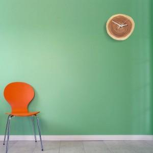 Creativo de madera maciza Anillo anual Reloj mudo relojes de pared simples reloj de pared de madera natural diseño moderno