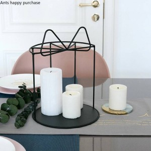 Creativo de la boda mesa de postres decoración arco Snack stand hierro soporte de la torta Postre estante Candelabro Decoraciones para el hogar