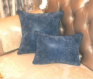 Funda de cojín Postmodern Throw Almohadas Suave de cuero tejido flocado Sofá Ropa de cama Modelo Decoración de habitaciones Cojines de lujo Almofadas