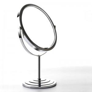 Escritorio de doble cara espejo de maquillaje estilo europeo simple hogar 6/7/8 pulgadas de metal redondo magnificar tocador espejo mx01111018