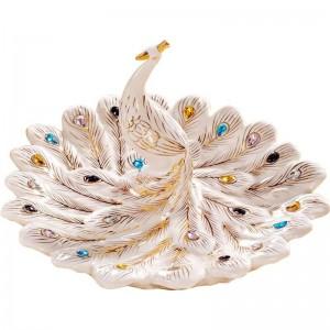Fruta de cerámica europea plato frutero mesa de la sala mesa de café exhibición práctica decoración del hogar artesanía adornos de regalo