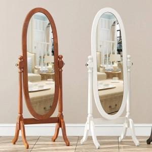 Dormitorio de estilo europeo espejo cuerpo completo piso mueble vertical salón princesa tallado espejo decorativo wx8241420