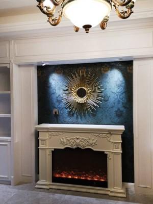 Gafas de sol europeas decoración de pared colgante restaurante luz lujo espejo de pared de hierro forjado espejo decorativo fondo pared