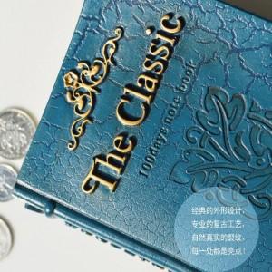 Moda resina hucha banco decoración cambio latas tarro moneda caja de almacenamiento libro hucha regalo de cumpleaños