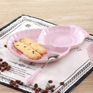Moda rosa real amantes taza de café juego de café taza té negro d'Angleterre flor taza de té y platillo